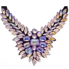 Crystal Motifs Necklace Wings Pink Aurora Borealis